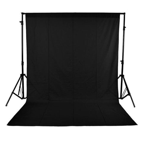 1.6 x 3M / 5 x 10FT Photography Studio Non-woven Backdrop - Black Color