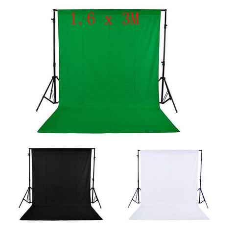 Image of 1.6 x 3M / 5 x 10FT Photography Studio Non-woven Backdrop - Black Color