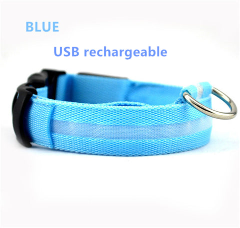 LED Pet Dog Collar ,USB Rechargeable