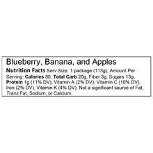 Blueberry, Banana and Apples