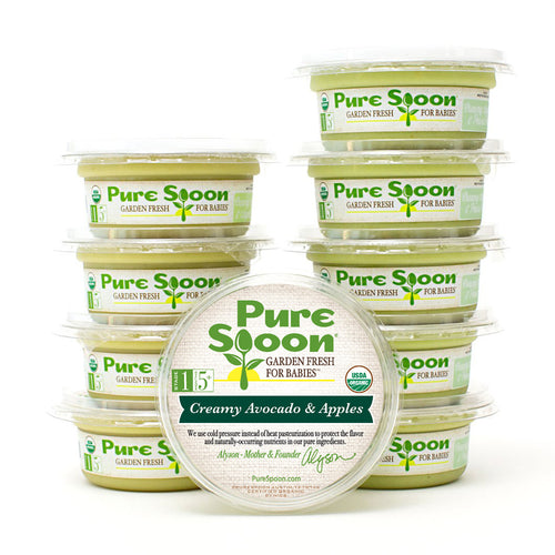 Stage 1 Creamy Avocado Baby Food Sampler  (10-Pack)
