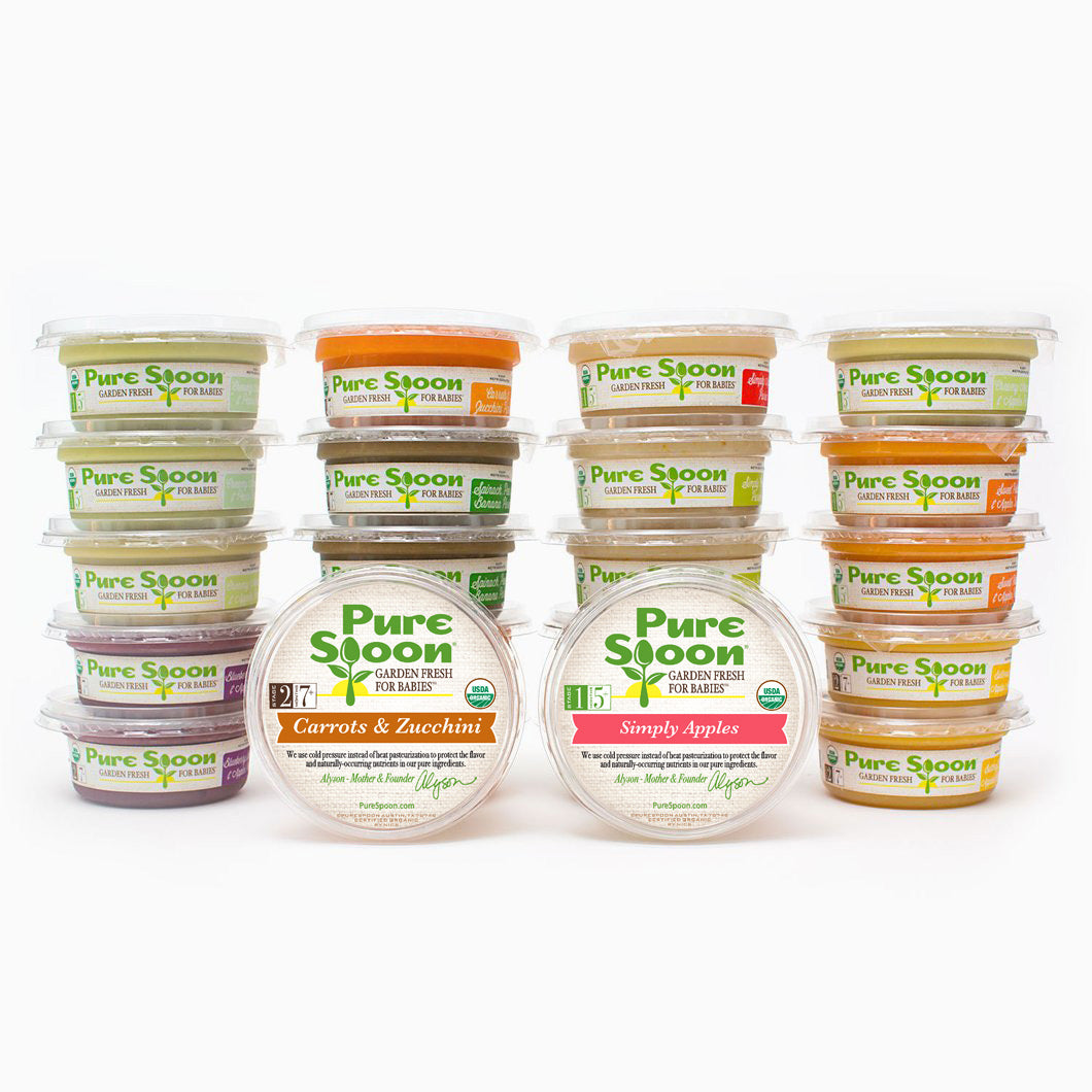 Stage 1 & 2 Baby Food Sampler (24-pack)