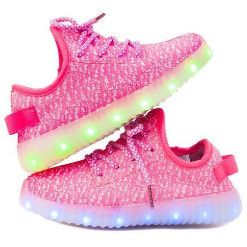 Light up Shoes-Pink-Youth and Adult sizes