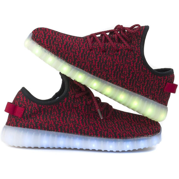 Light up shoes - Red - Youth and Adults sizes