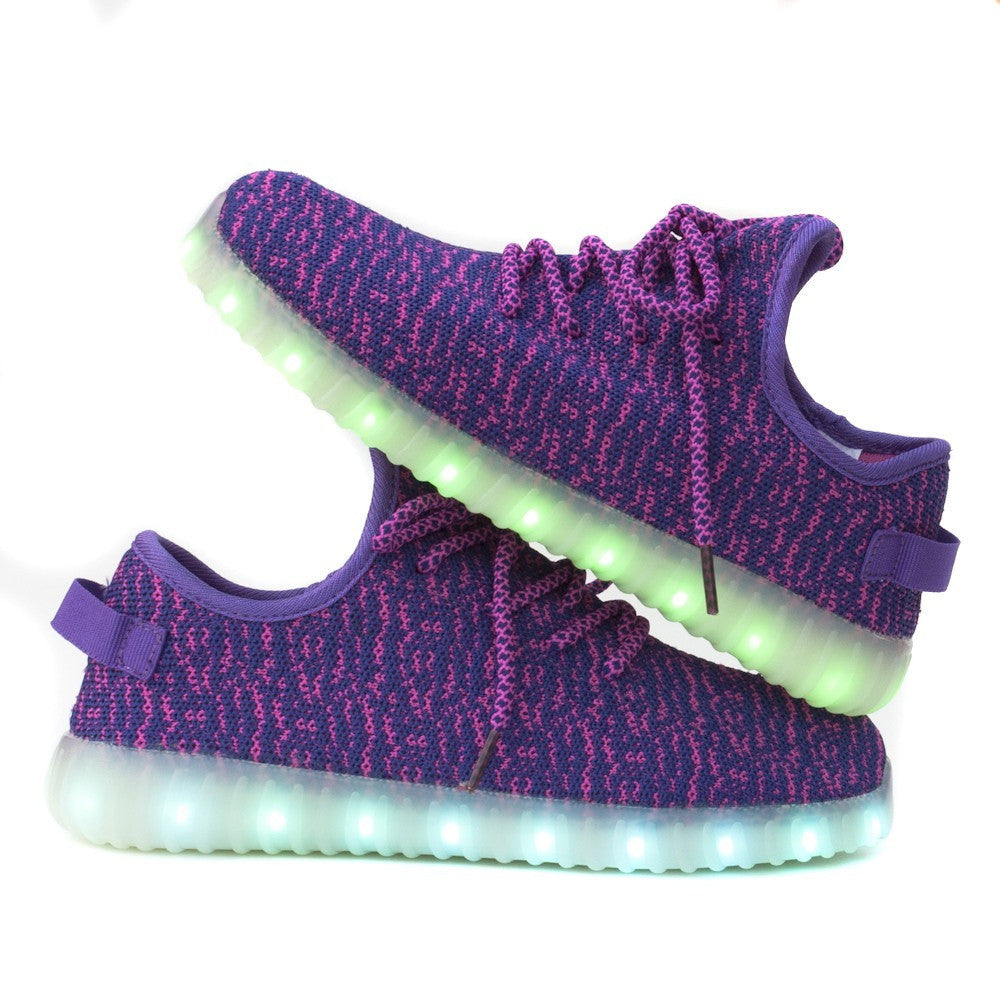 Light up Shoes-Purple-Youth and Adult sizes