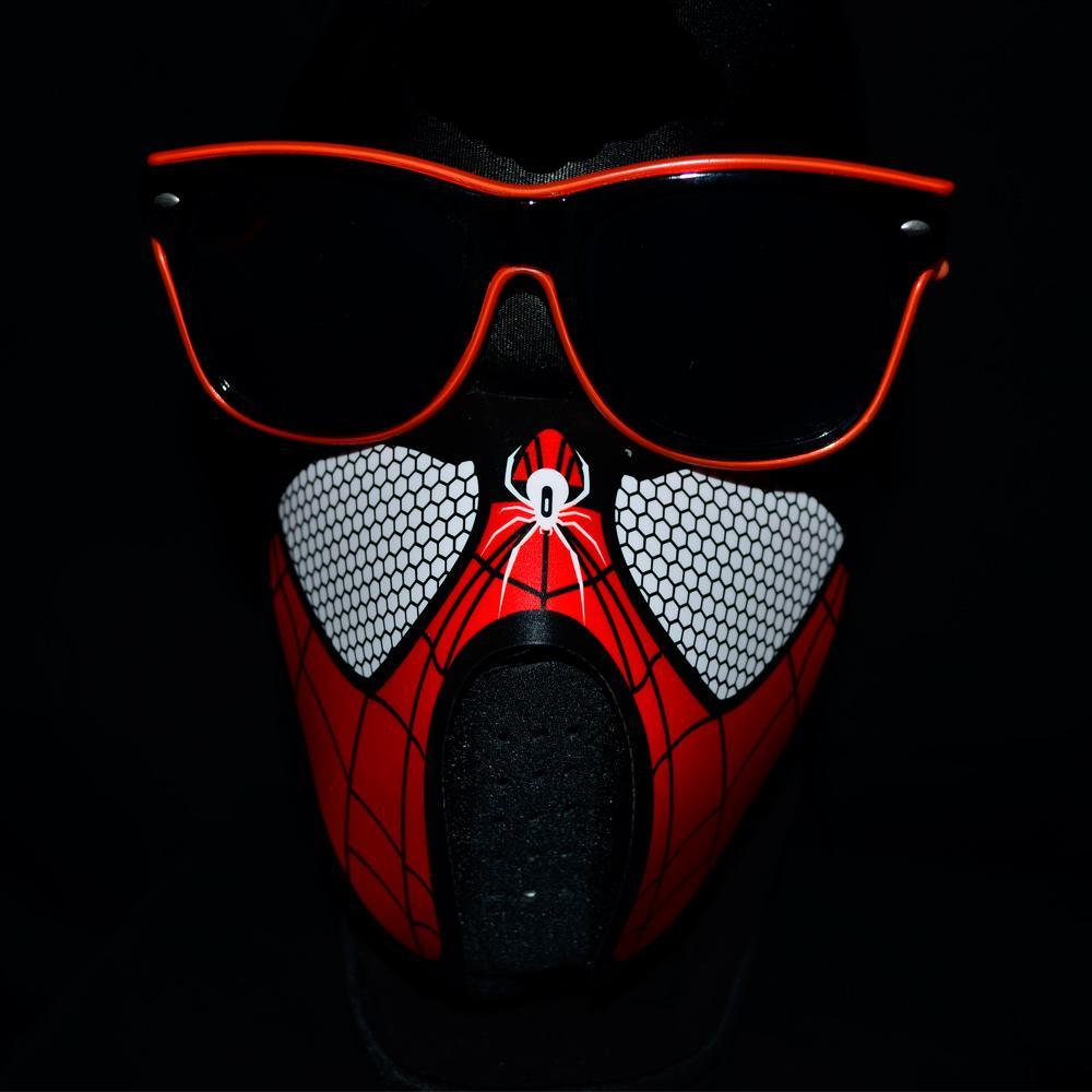 Non-medical Light Up Sound Activated Mask -Spiderman