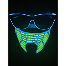 Load image into Gallery viewer, Non-medical Light Up Sound Activated Green Mask #1