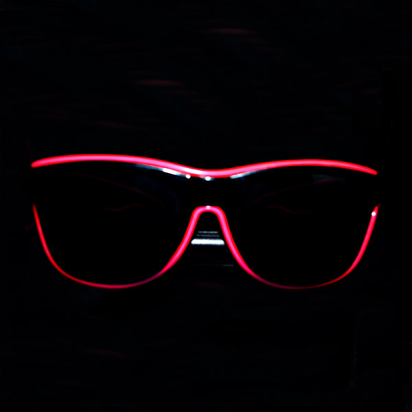 Light Up Rave Party Sunglasses-Pink