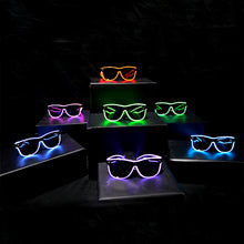 Load image into Gallery viewer, Light Up Rave Party Sunglasses-Aqua Blue