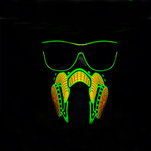 Light Up Party Sunglasses- Lime Green