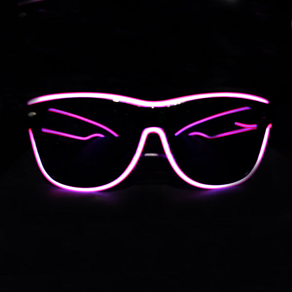 Light Up Rave Party Sunglasses-Purple