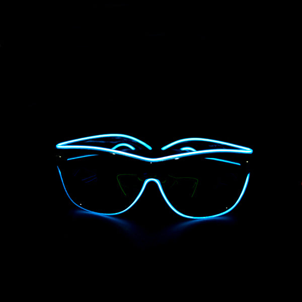 Light Up Rave Party Sunglasses-Aqua Blue