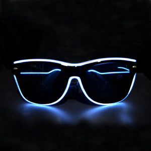 Light Up Rave Party Sunglasses-White