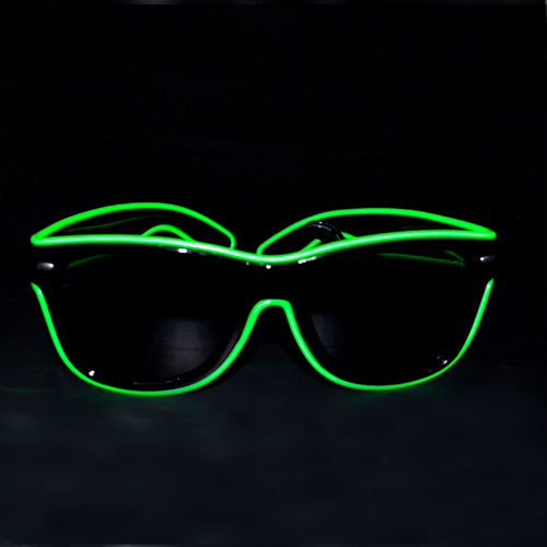 Light Up Party Sunglasses- Green