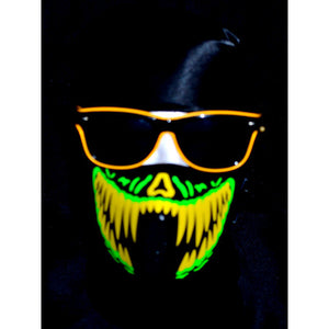 Light Up Rave Party Sunglasses-Yellow