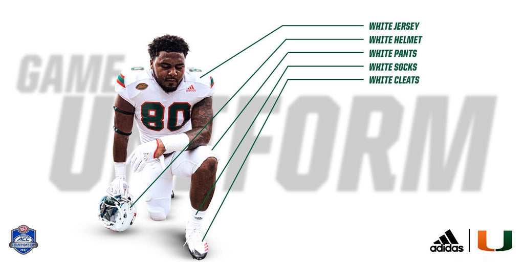 Miami Hurricanes Uniforms this weekend Vs Clemson