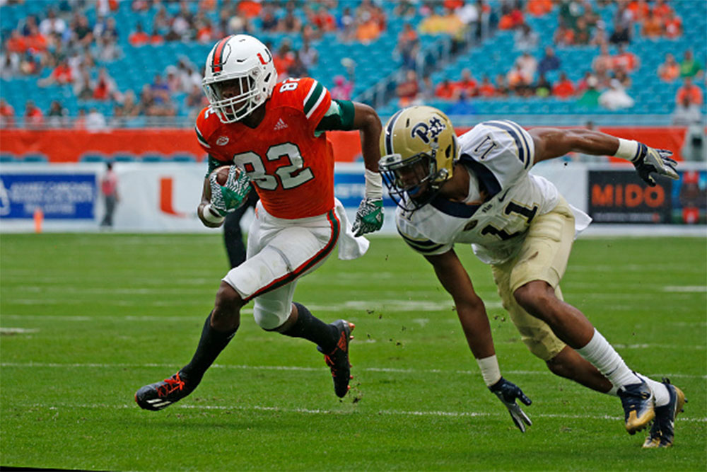 Miami Hurricanes WR Ahmmon Richards Carted Off Field