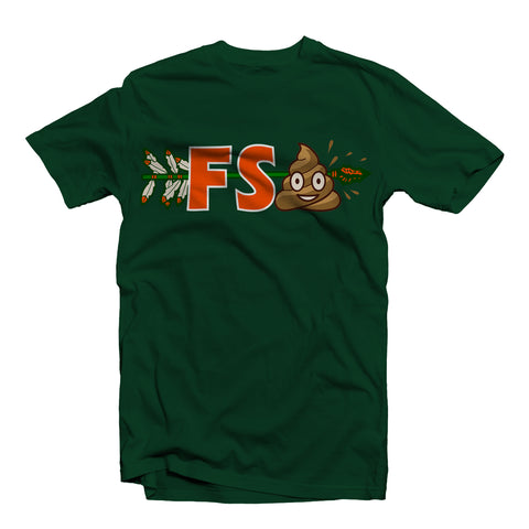 """FSPoo""  TEE SHIRT GREEN"