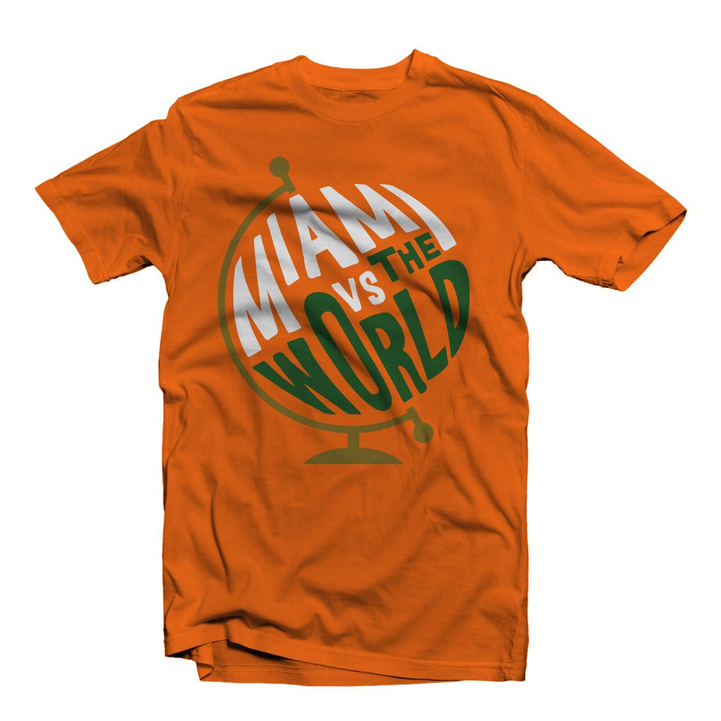 """MIAMI vs THE WORLD"" TEE SHIRT ORANGE"
