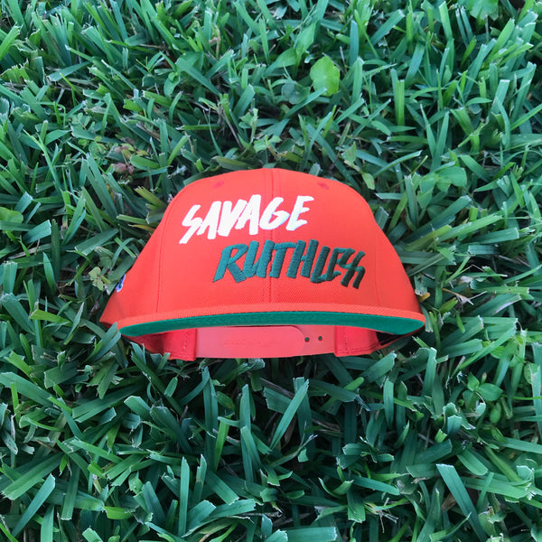 "DUH Nation ""Savage Ruthless"" Orange Snapback"