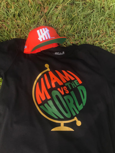 """MIAMI vs THE WORLD"" TEE SHIRT BLACK"