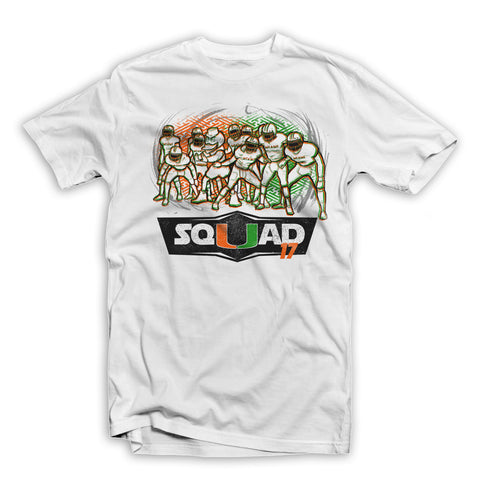 """SQUAD17"" UNIVERSITY OF MIAMI TEE SHIRT WHITE"