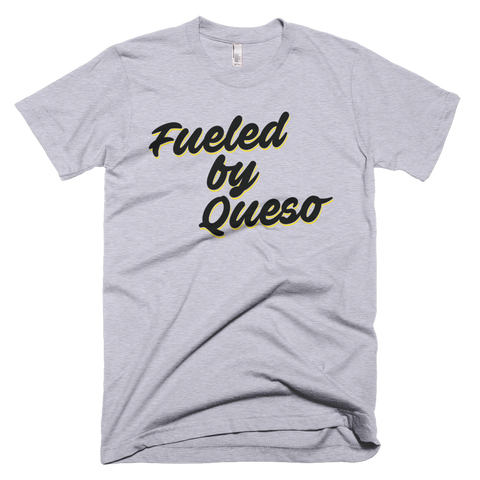 Fueled by Queso Black/Yellow Graphic T-Shirt (Heather Grey)