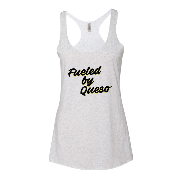 Fueled by Queso Black/Yellow Graphic Tank Top (Heather White)