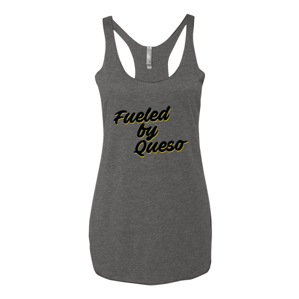 Fueled by Queso Black/Yellow Graphic Tank Top (Premium Heather)