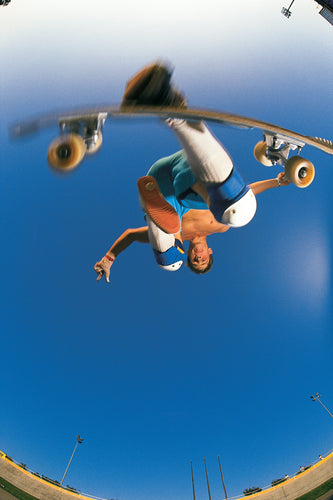 Rodney Mullen 18X24 Skate Photo from Below at the Carson Velodrome