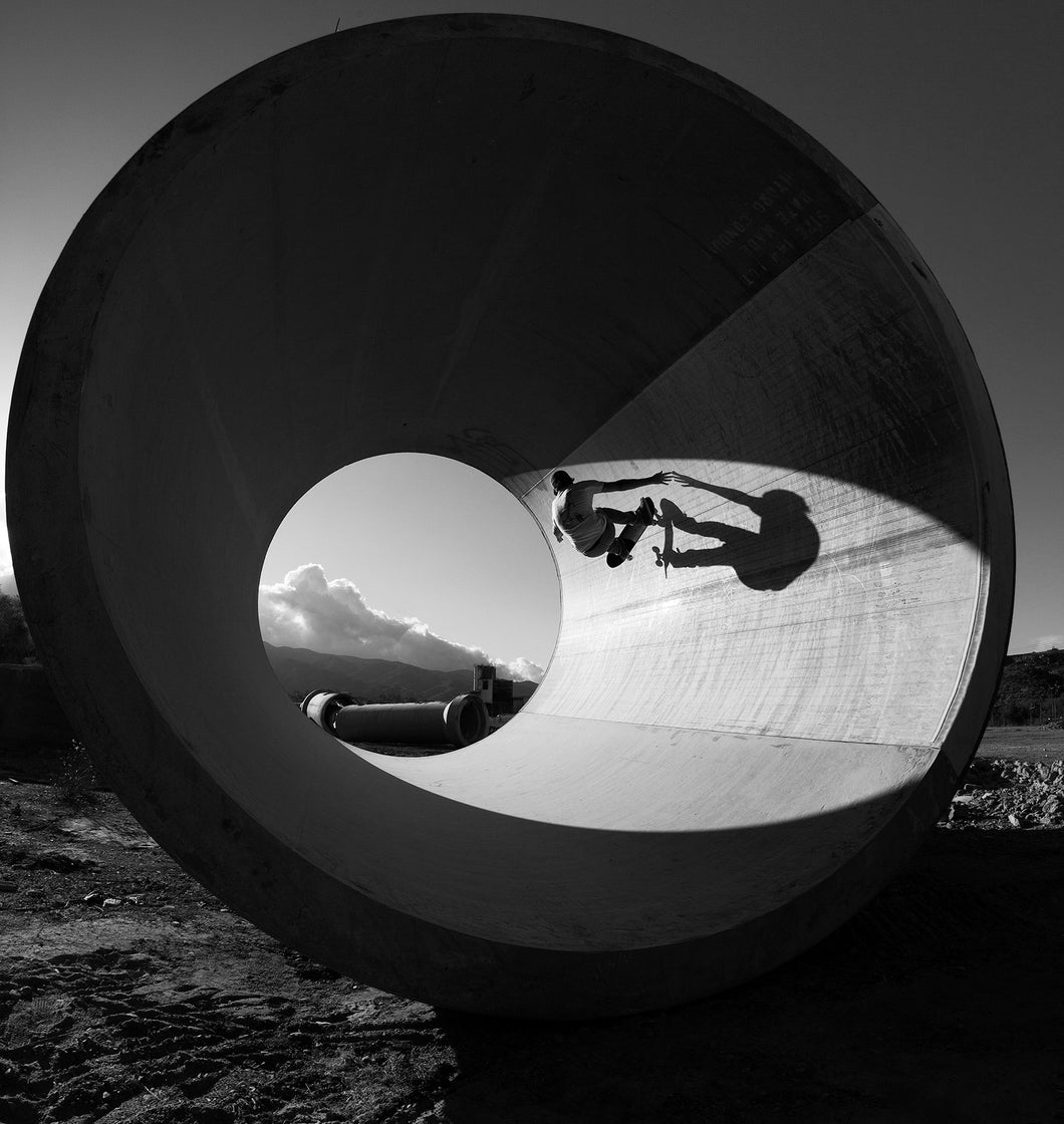 Chris Miller and His Shadow at Corona Pipe