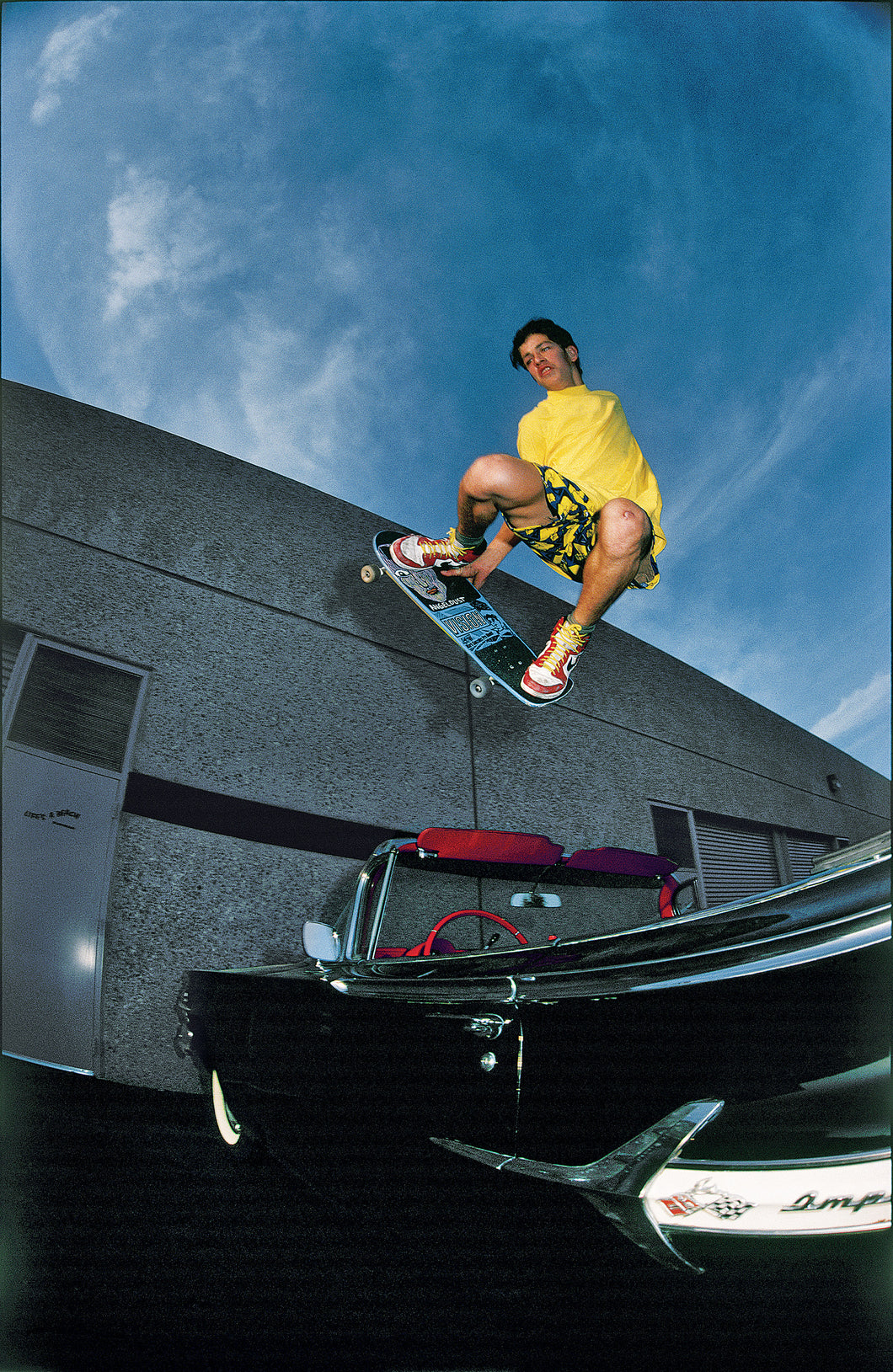 Mark Gonzales Jumps a Chevy Impala in 1986 J Grant Brittain