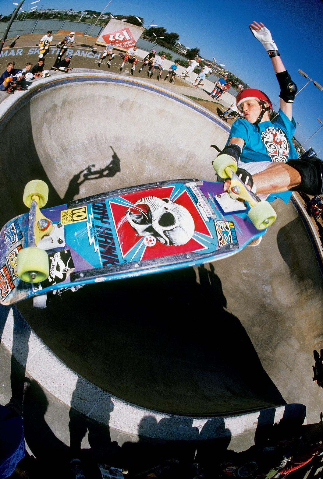 Tony Hawk Crossbone Lien Air 1986 Del Mar Skate Ranch Photograph