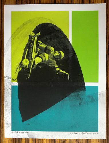Chris Miller Pipeline Skatepark Silkscreened Limited Edition 18x24