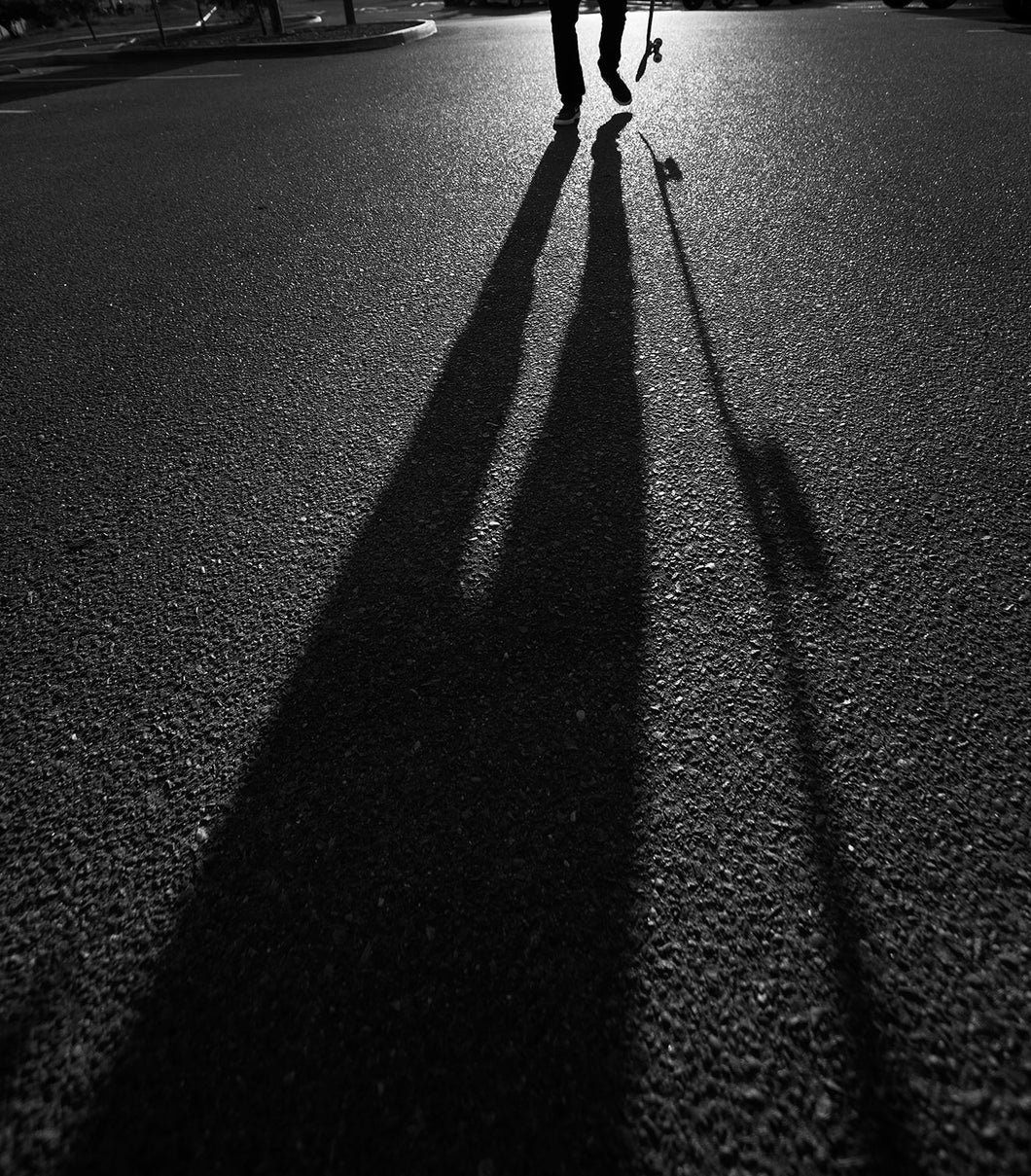 Skateboarder Shadow Photograph 18X24