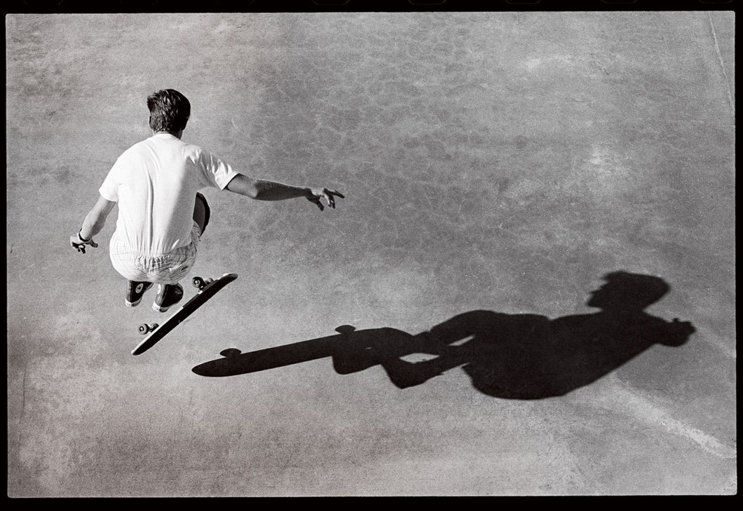 11x14, 16x20 and 18x24 Rodney Mullen Eighties Freestyle Shadow At Del Mar Skateboard Ranch - Skate Photo