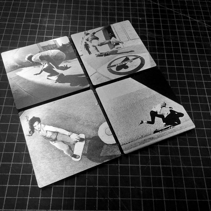 Skateboarding Photo Aluminum Coasters 4 Pack - 4 X 4