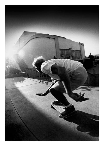 11x14, 16x20, 18x24 Natas Kaupas Landing - Eighties Skateboarding Photograph