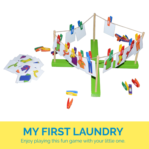 My First Laundry Fine Motor Game