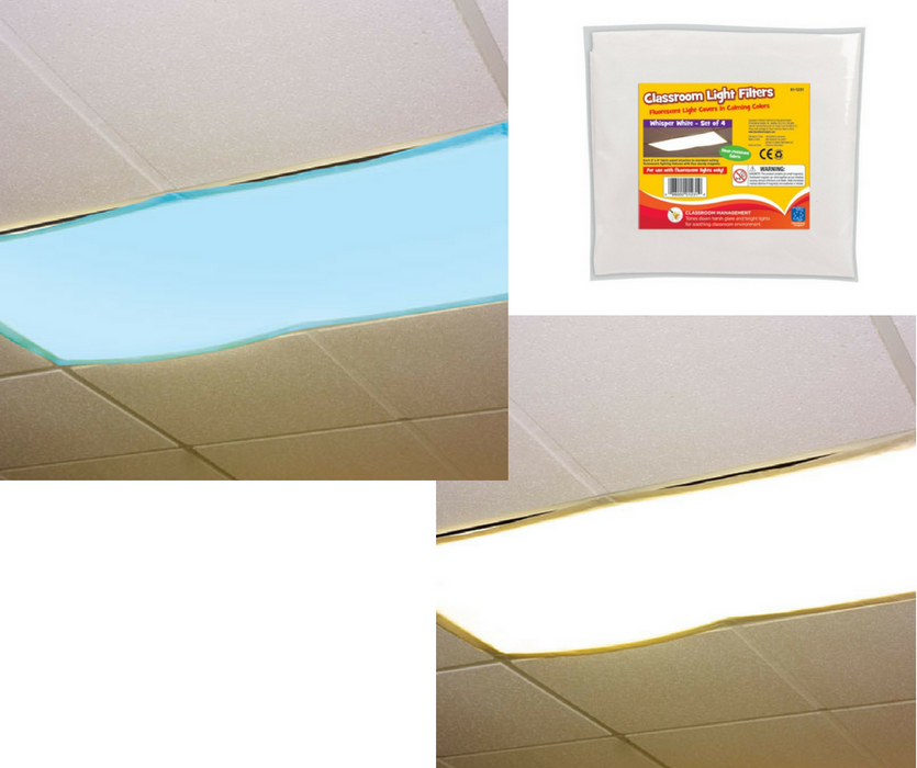 classroom light filters fluorescent light covers — special needs ...