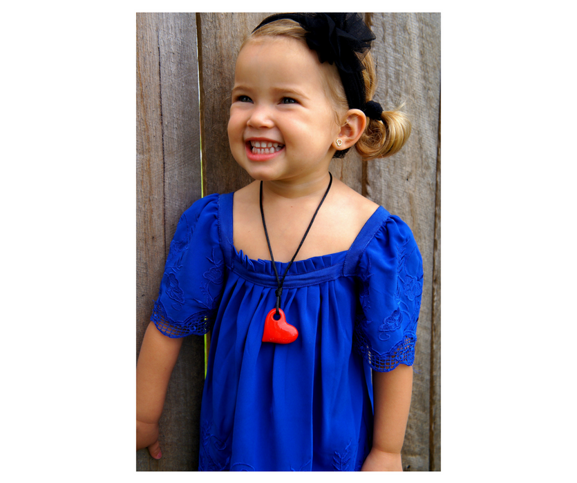 Junior Heart Pendant - Sensory Chew Toy for Kids