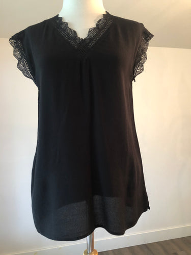 Molly Bracken Black Lace Tee
