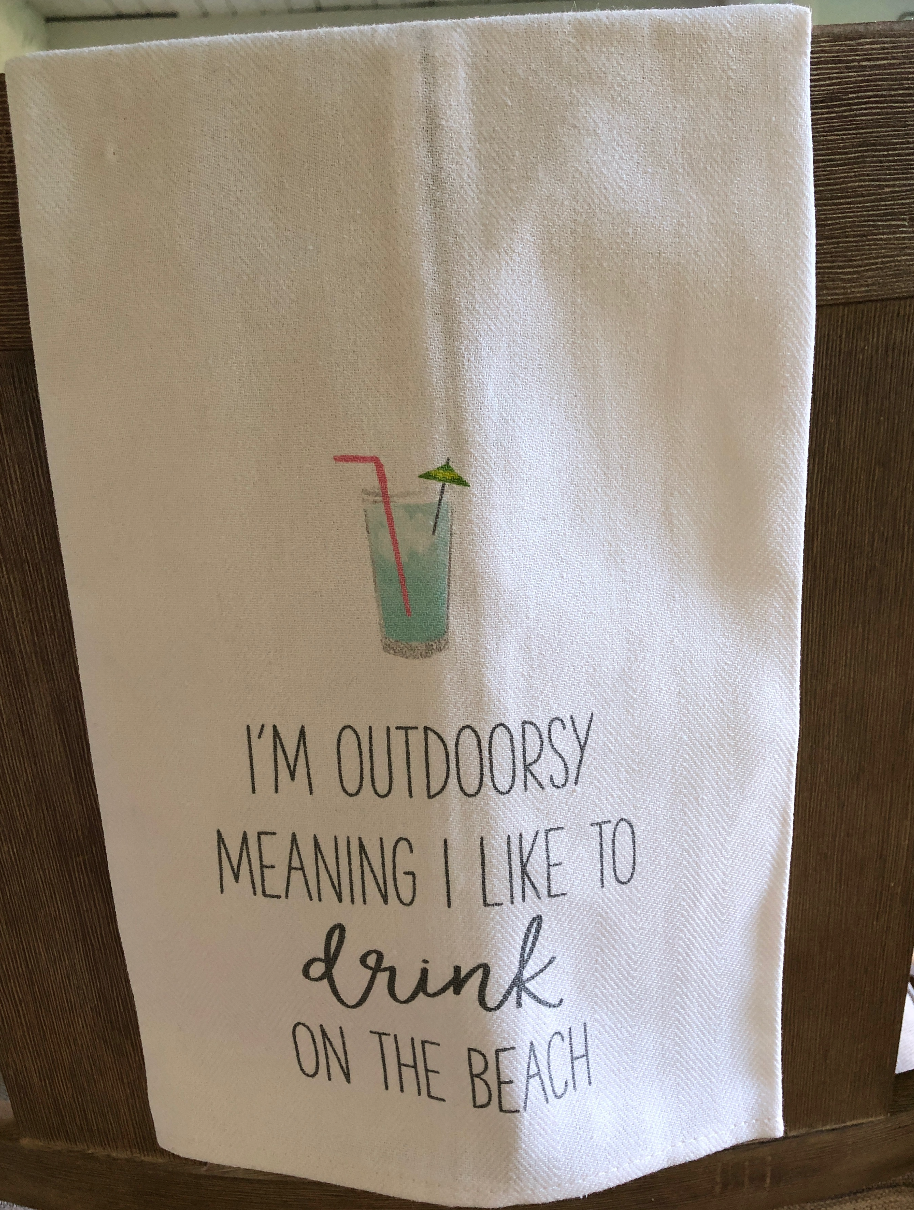 Gotta Drink About It Dishtowels