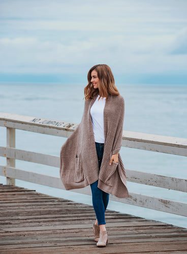 CozyChic Lite Heathered Travel Shawl
