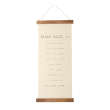 Beach House Hanging Canvas