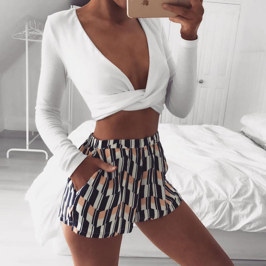 Rachel Wrap Crop Top