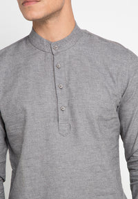 Shrimp Shadow Collar Shirt - Grey