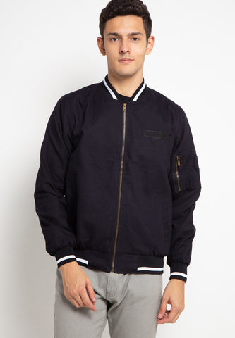 SVPERBIA  Jacket Baseball Deep Black