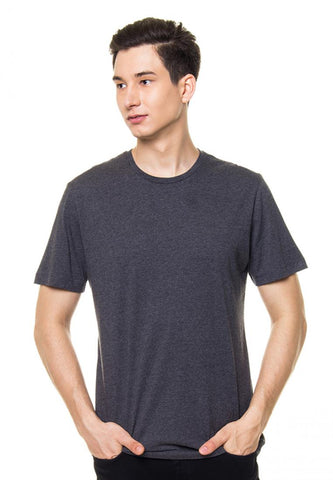 BASIC ROUND TEE  MISTY BLACK M81