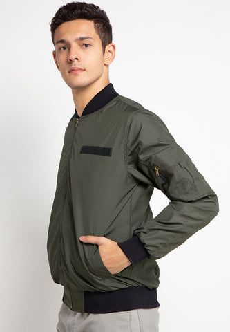 SVPERBIA Jaket Bomber with Velcro Army